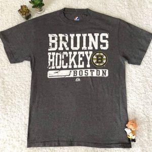 Boston Bruins Hockey Gray Tee Shirt Men Medium